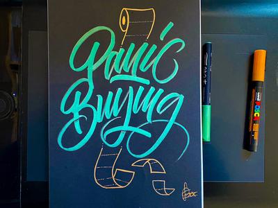 Panic buying handwriting brush lettering brush and ink brush calligraphy hand lettering brush script