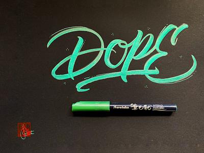 Dope handwriting brush lettering brush and ink brush calligraphy hand lettering brush script