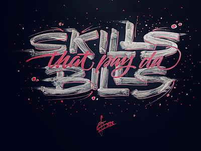 Skills 'n Bills brush script brush lettering brush calligraphy brush and ink hand lettering handwriting