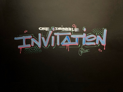 dribbble invitation invitation invite handwriting brush lettering brush and ink hand lettering brush calligraphy brush script