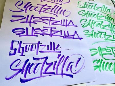 Shootzilla handwriting brush lettering brush and ink brush calligraphy hand lettering brush script