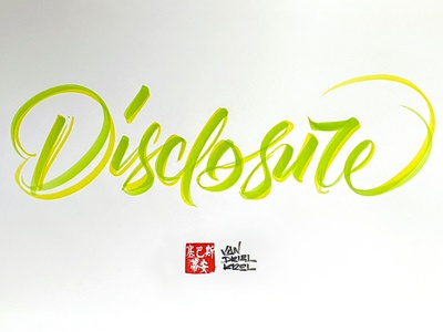 Disclosure handwriting brush lettering brush and ink brush calligraphy hand lettering brush script
