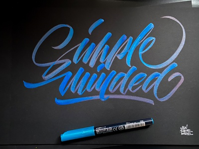 Simple Minded handwriting brush lettering brush and ink brush calligraphy hand lettering brush script