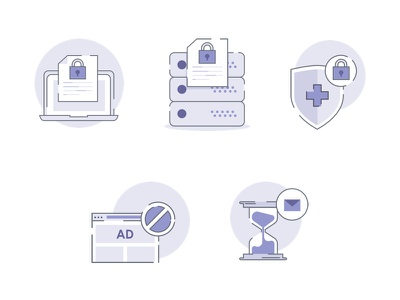 Protonmail illustrations sketchapp swiss secure monochromatic illustrations