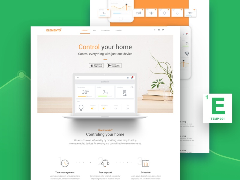 Elemento - Multi-Purpose Template for Startups by YOYO LABS