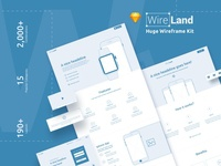 Wireframe UI Kit for web design projects