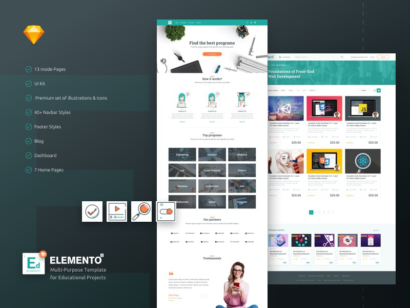 Education Sketch Template by YOYO LABS on Dribbble