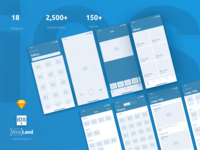 Gallery Wireframe Layouts for iOS