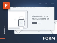Form - Wireframe UI Kit for Web Design Projects