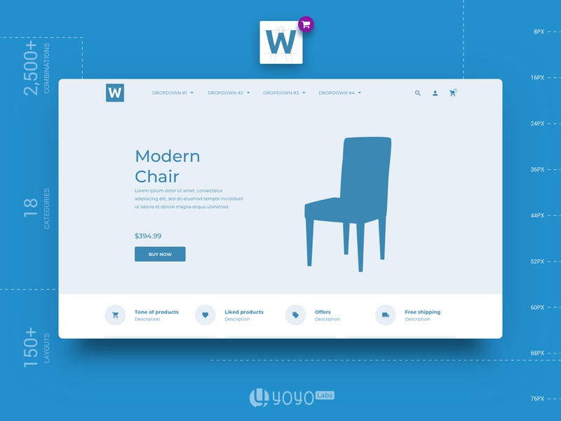 Ecommerce Wireframe Collection