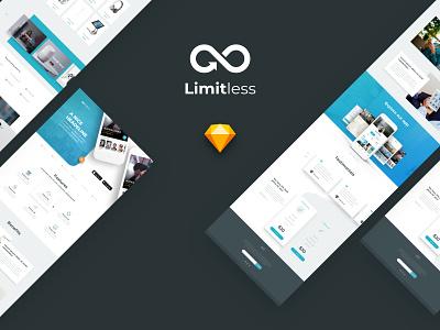Massive Layout Library Collection sketchapp ecommerce landing page clean startup multipurpose website ui kit design kit template ux ui