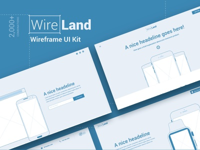Wireframe UI Kit design ecommerce web landing page startup multipurpose wireframe website ui kit sketch template ux ui
