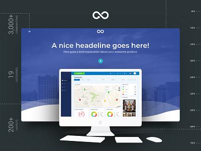 FREEBIE - Headers Styles prototype startup free freebie header design landing page multipurpose website ui kit design sketch kit template