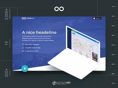 Header Styles Collection header exploration header design templatedesign freebie free web landing page startup multipurpose website design sketch template