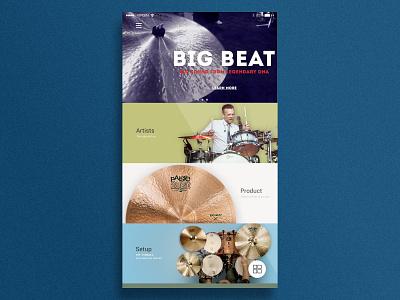 Paiste App Ui - home switzerland redesign cymbals drums app ui paiste