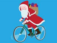 Biketowork Santa Claus