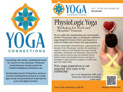 Yoga Connections Brand Design icon typography vector branding logo illustration design