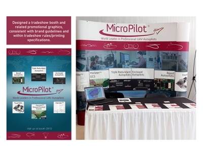 MicroPilot Trade Booth Assets print booth tradeshow layout vector typography design branding