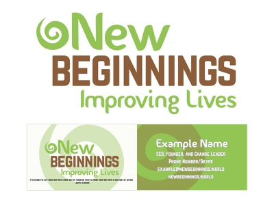 New Beginnings Logo Design layout business cards icon vector logo typography design branding