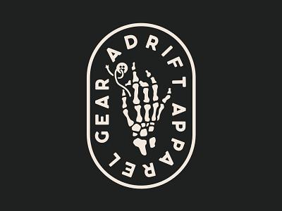 Gear Adrift Apparel minimal flat icon vector branding logo design illustration t-shirt