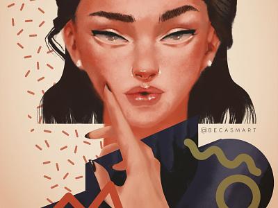 Janace digitalartist artwork colorful digitalart digital illustration illustrator illustration girl illustration digital painting woman girl digital art color