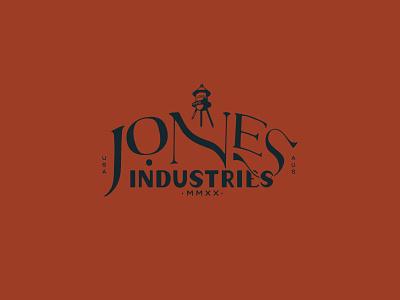 Jones Industries Logo minimalist industrial vintage art deco logo