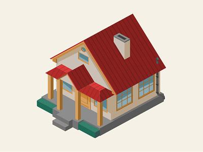 House Illustration isometric design house design vector illustration 3d