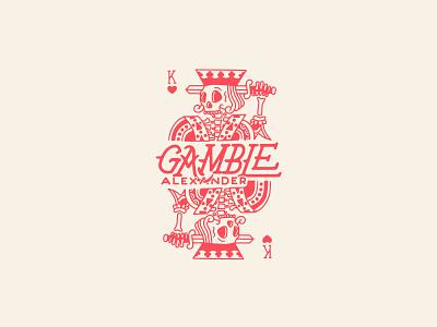 Gamble Alexander logo playing card