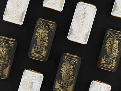 Chimp Beer 3d modeling blender3d tattoo beer label design minimalist minimal blender 3d beer can can packaging art deco