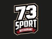 73 Sport Restaurant Logotype