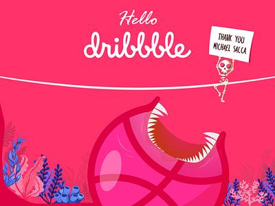Hello Dribbble dribbble best shot designers hello dribbble illustration