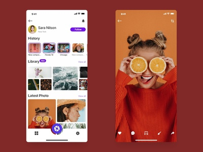 PhotoEdit color application ux dribbble text photo ios ui app design app