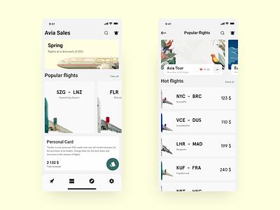 Avia Sales app aviasales sale ticket design ticket app ticket avia app plane avian dribbble best shot application minimal dribbble color ui ux ios app design app