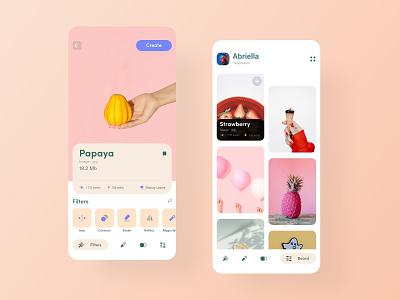 Image editor app concept shot color minimalism ios inspiration mobile application ui design app application app design app