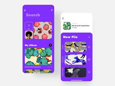 Gallery App gallery photo shot app ui minimalism app apps application design dribbble best shot dribbble minimal color application ui ux ios app design app