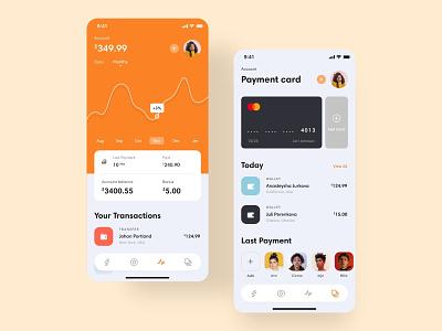 Card assistant - App graphic bank card pay app ui shot dribbble best shot dribbble minimal color application ios ui ux app design app