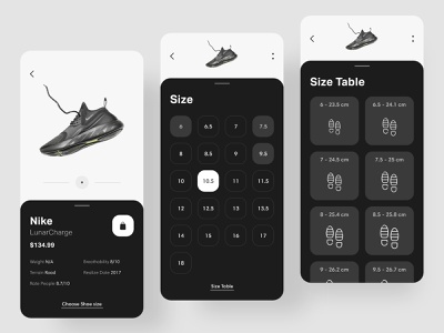 Shoe store - App wireframe interfaces adobe xd userexperience expierience dailyui uitrends uidesign interaction inspiration shot dribbble minimal color application ui ux ios app design app