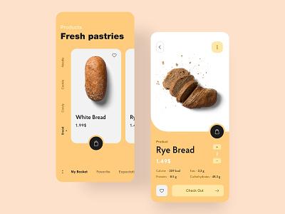 Fresh Pastries - App minimalism minimal dribbble ui color application ux ios app design app