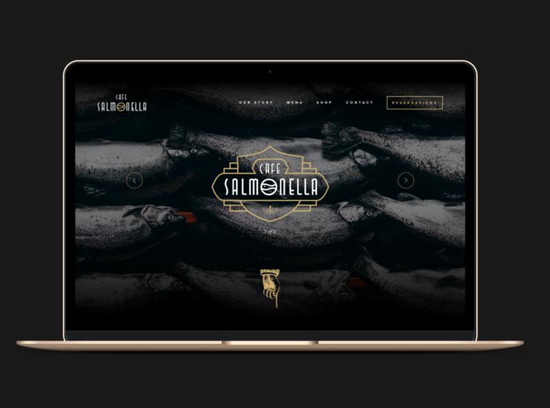 ASOUE: Cafe Salmonella Website Design book restaurant website branding web design