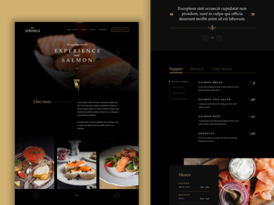 ASOUE: Cafe Salmonella Restaurant Web Design restaurant branding design book branding website web design