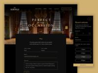 ASOUE: Cafe Salmonella Online Reservations Web Design dark ui restaurant book web design branding