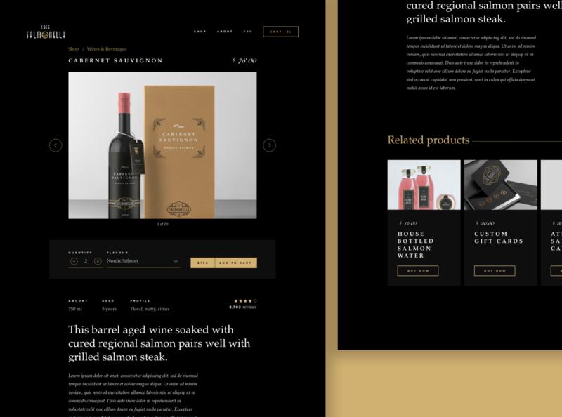 ASOUE: Cafe Salmonella eCommerce Web Design ecommerce webdesign brand identity packaging branding book