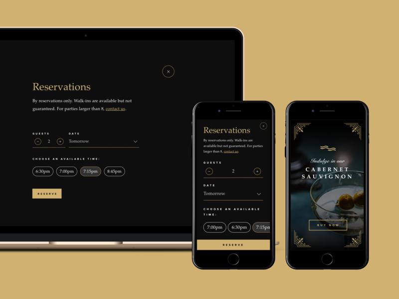 ASOUE: Cafe Salmonella Responsive Web Design dark ui booking restaurant book responsive web design webdesign branding