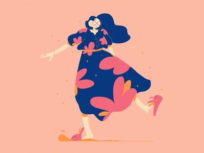 🌺 flower dress character photoshop illustration design