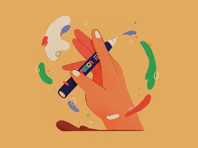 🖍 pen posca hand photoshop illustration design