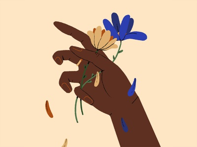 💐 flower hands photoshop illustration