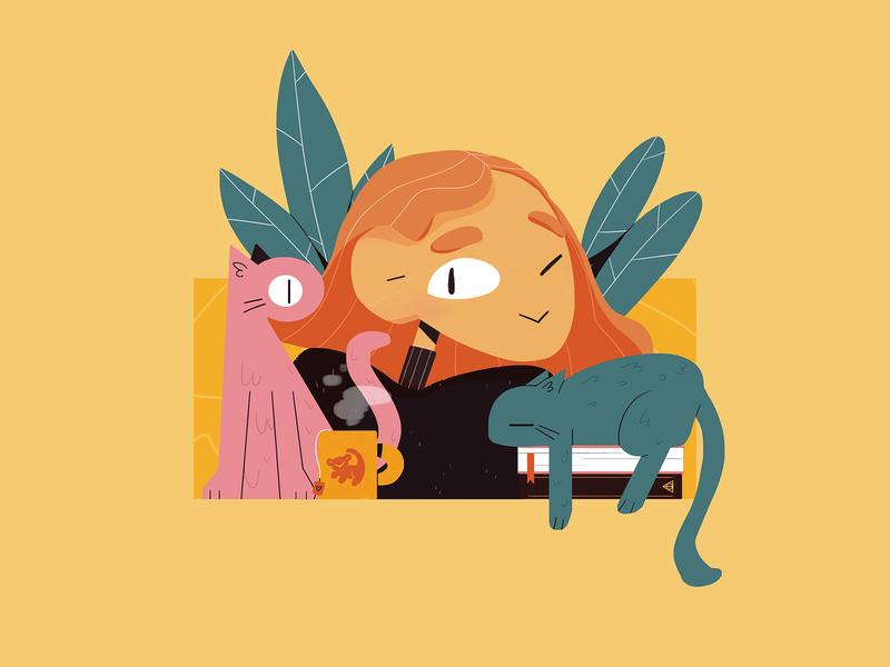 🐱💁♀️🐱 cats animal character photoshop illustration design