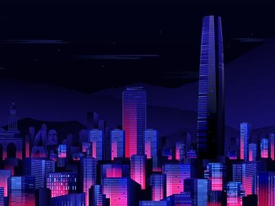 Chile Skyline illustrator south america cityline landscape city skyline graphic design art design vector red bull illustration