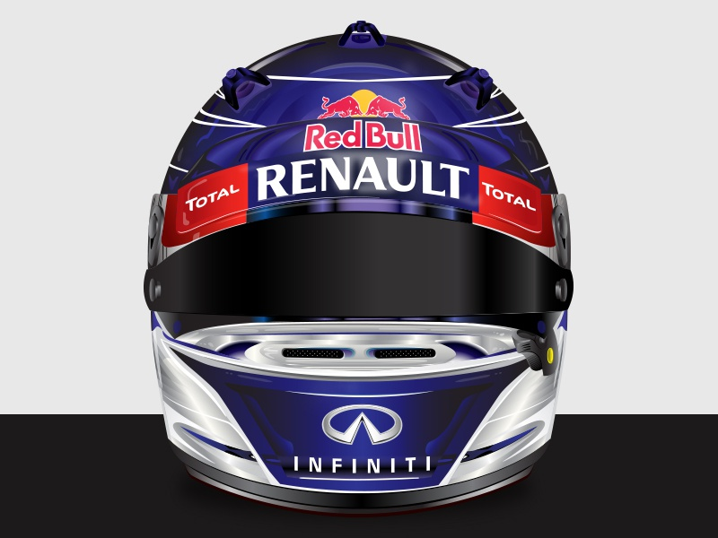 Helmet cars graphic design detail racing helmet f1 red bull vector