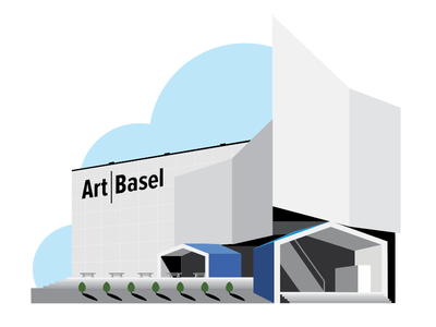 Art Basel geometry lines architecture art miami building art basel illustration design